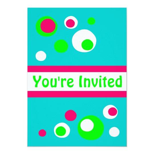 Retro bubbles invitation