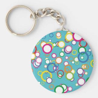 Retro Bubbly Circles Keychain