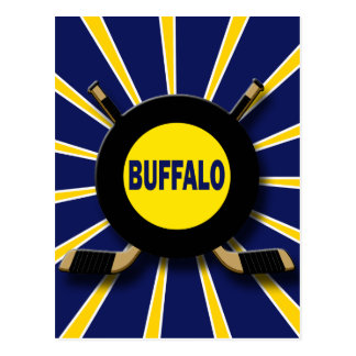 RETRO BUFFALO HOCKEY POSTCARD