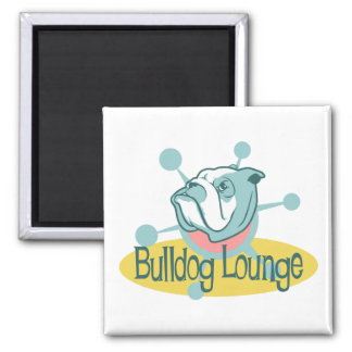 Retro Bulldog Lounge Magnet