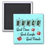 Retro Bunco Square Magnet