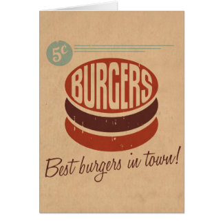 Retro Burger Card