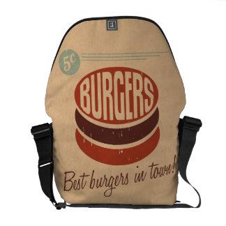 Retro Burger Courier Bags