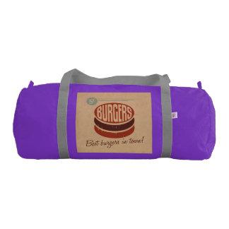 Retro Burger Gym Duffel Bag