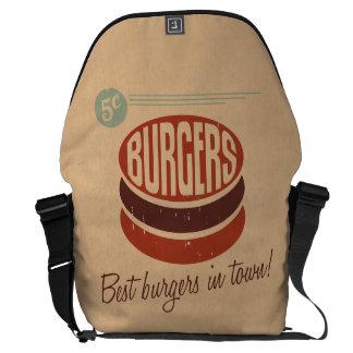 Retro Burger Messenger Bag