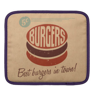 Retro Burger Sleeve For iPads