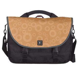 Retro Burnt Orange Circles Pattern Bag For Laptop