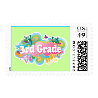 Retro Burst 3rd Grade School Gift Tshirt Stamp