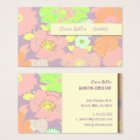 Retro Business card, pastel poppies Business Card