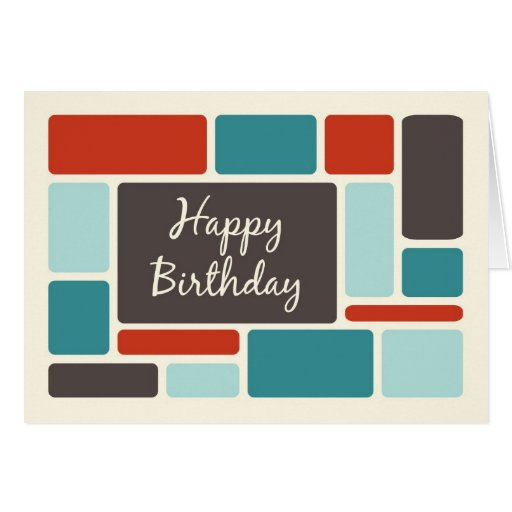 Retro Business From Group Birthday Card
