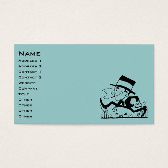 Retro Businessman Business Card