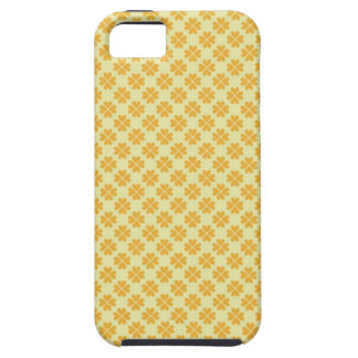 Retro buttercup yellow clover floral heart pattern tough iPhone 5 case