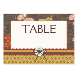Retro Butterflies Table Card Flat Mini Business Card Templates