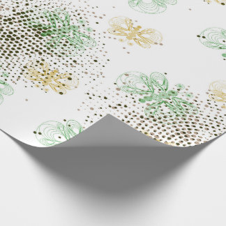 Retro butterfly pattern with halftones wrapping paper