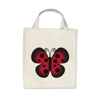Retro Butterfly Tote Bags