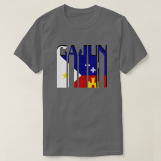 Retro Cajun Acadiana Flag Louisiana Tee Shirt