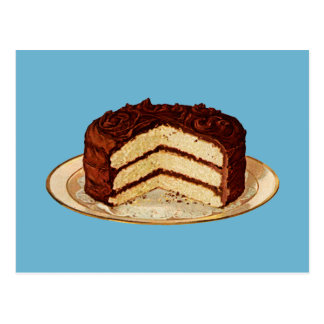 Retro Cake Postcard
