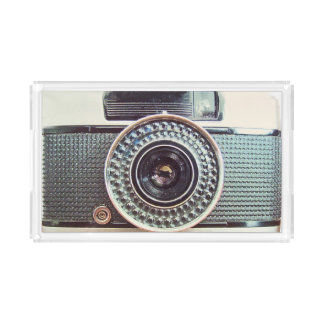 Retro camera acrylic tray