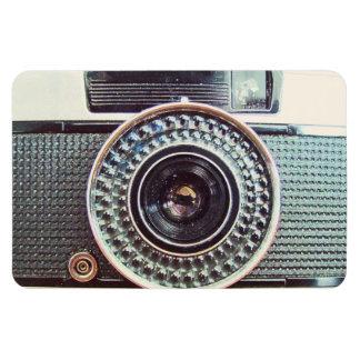 Retro camera rectangular photo magnet