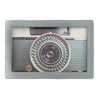 Retro camera rectangular belt buckles