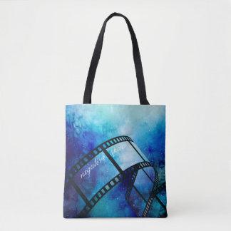 Retro camera space tote bag