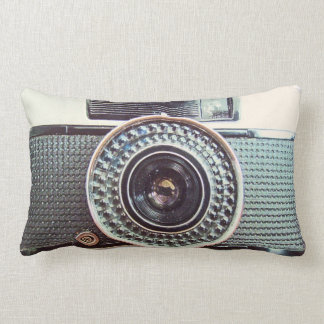 Retro camera throw cushion