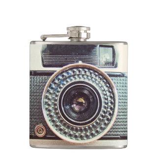 Retro camera hip flask