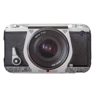 Retro Camera With Scroll On Chrome iPhone 3 Tough Tough iPhone 3 Cases