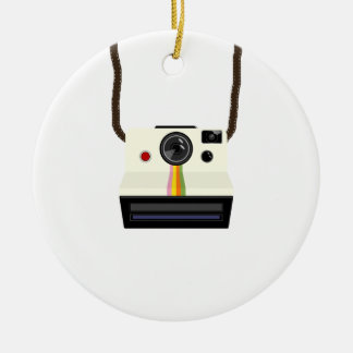 retro camera with strap christmas ornament