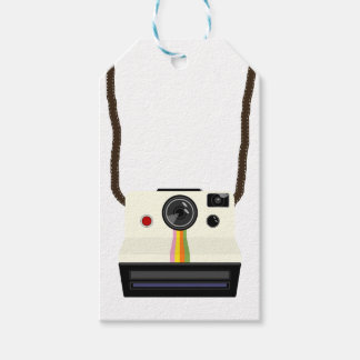 retro camera with strap gift tags