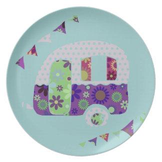Retro Camper Party Plates