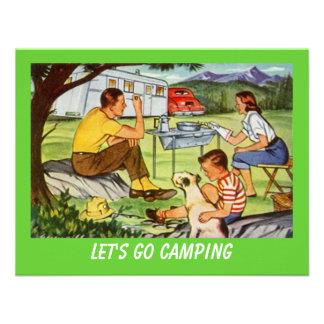 Retro CAMPING RALLY Vintage Campers Invitation