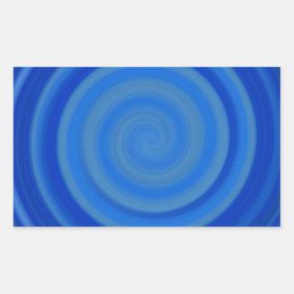 Retro Candy Swirl in Blueberry Blue Rectangular Sticker