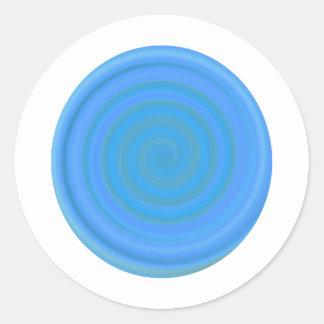 Retro Candy Swirl in Blueberry Round Sticker