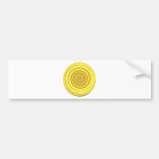 Retro Candy Swirl in Butterscotch Yellow Bumper Sticker
