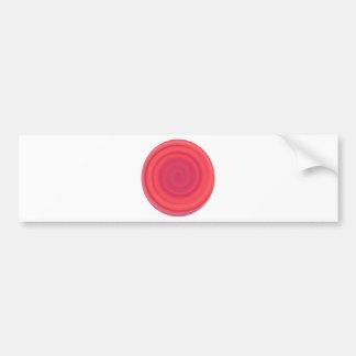 Retro Candy Swirl in Cherry Pink Bumper Sticker