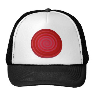 Retro Candy Swirl in Cherry Red Cap