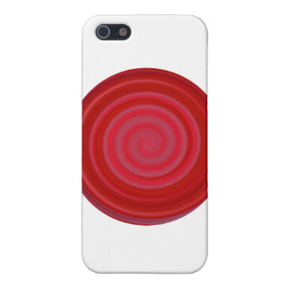 Retro Candy Swirl in Cherry Red iPhone 5 Cover