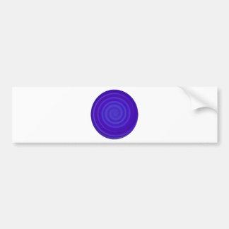 Retro Candy Swirl in Grape Berry Bumper Sticker
