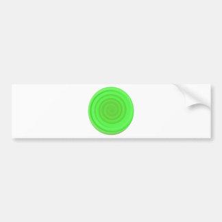 Retro Candy Swirl in Lime Green Bumper Sticker
