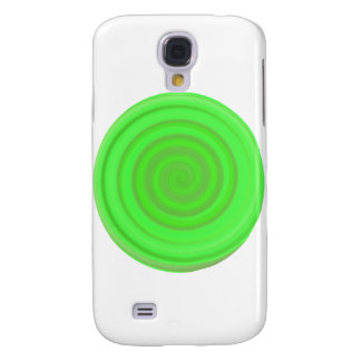 Retro Candy Swirl in Lime Green Galaxy S4 Case