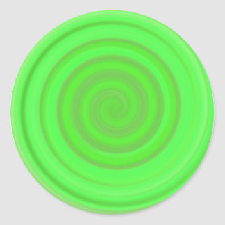 Retro Candy Swirl in Lime Green Stickers