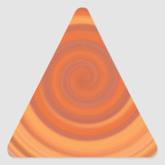 Retro Candy Swirl in Peach Orange Triangle Sticker