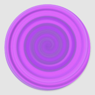 Retro Candy Swirl in Plum Pudding Round Sticker