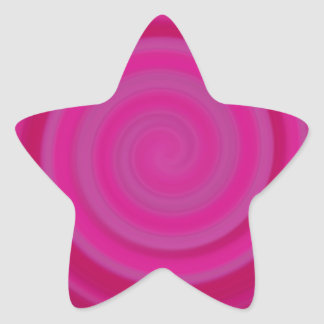 Retro Candy Swirl in Plum Star Sticker