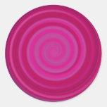 Retro Candy Swirl in Plum Stickers
