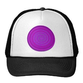 Retro Candy Swirl in Purple Plum Cap