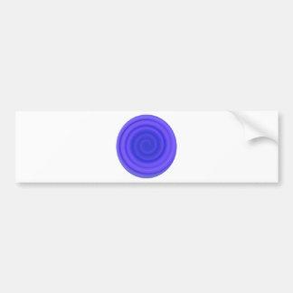Retro Candy Swirl in Violet Blue Bumper Sticker