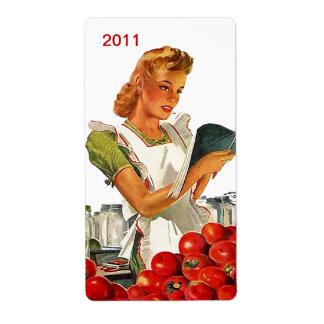 Retro Canning Jar Labels Label Canned Goods Canner