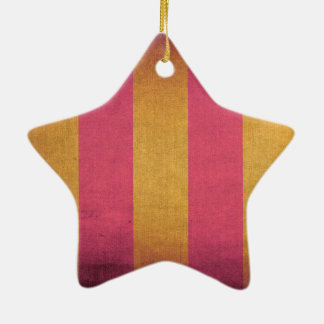 Retro canvas deck chair pattern christmas ornament